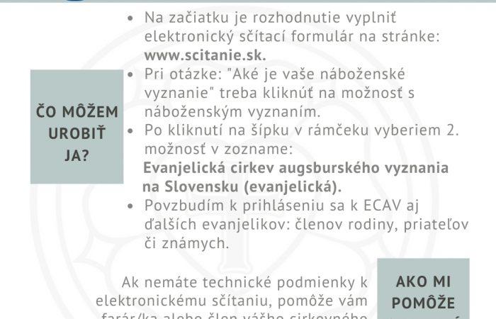 Sčítanie obyvateľstva – pokyny ECAV
